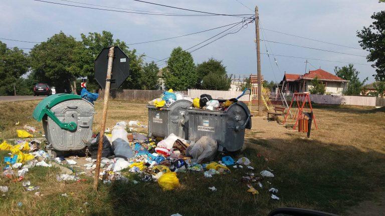 Război pe gunoaiele din comuna Roma