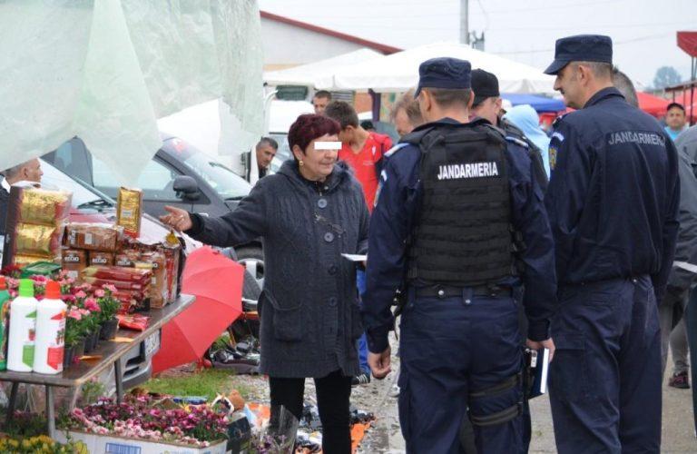 Traficantă de ţigări prinsă în flagrant
