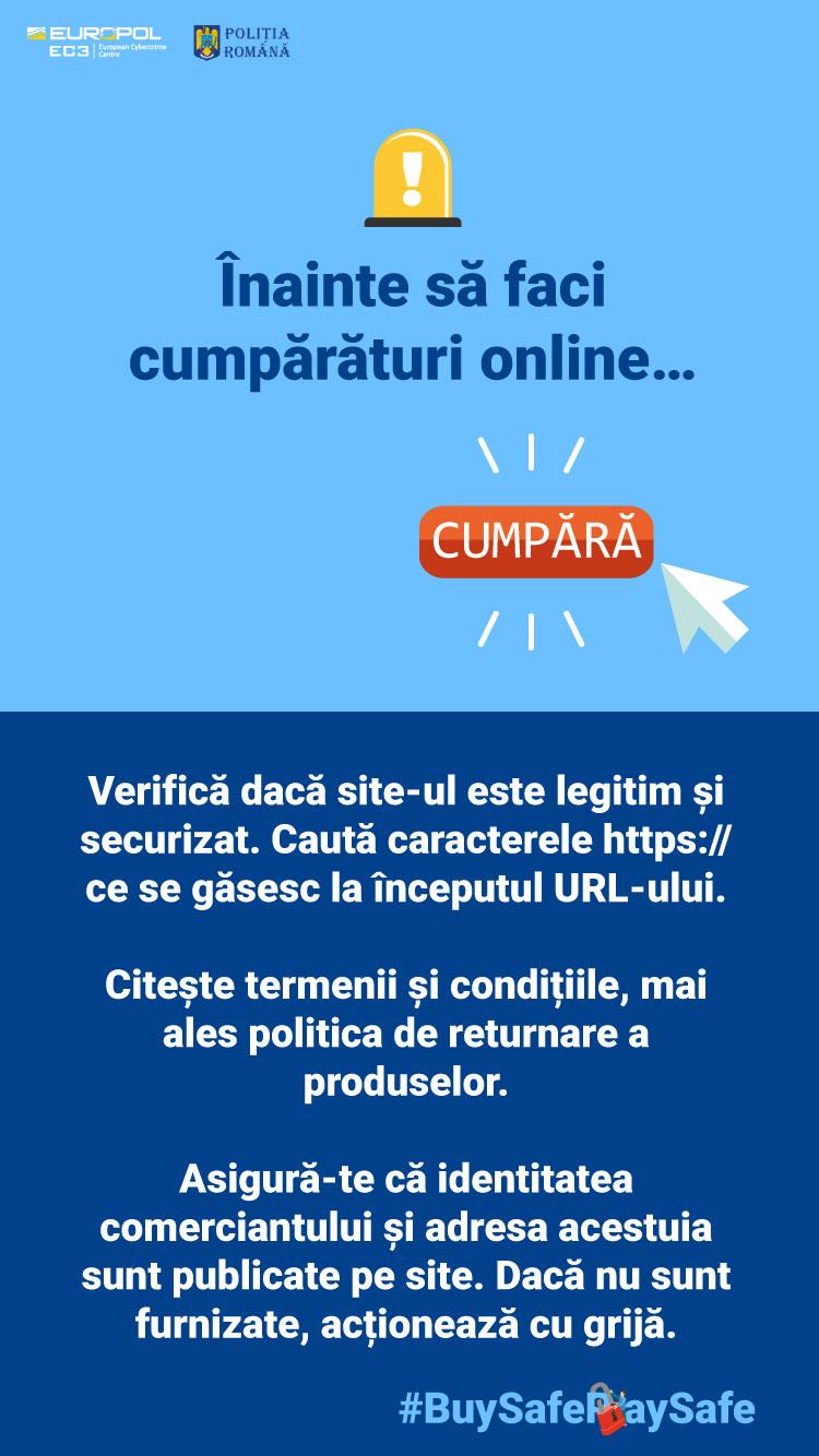 Atenţie la cumpărăturile online ! Poliţia atenţionează