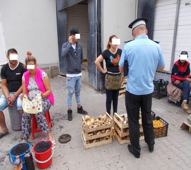Comercianţii de ciuperci amendaţi de poliţiştii locali