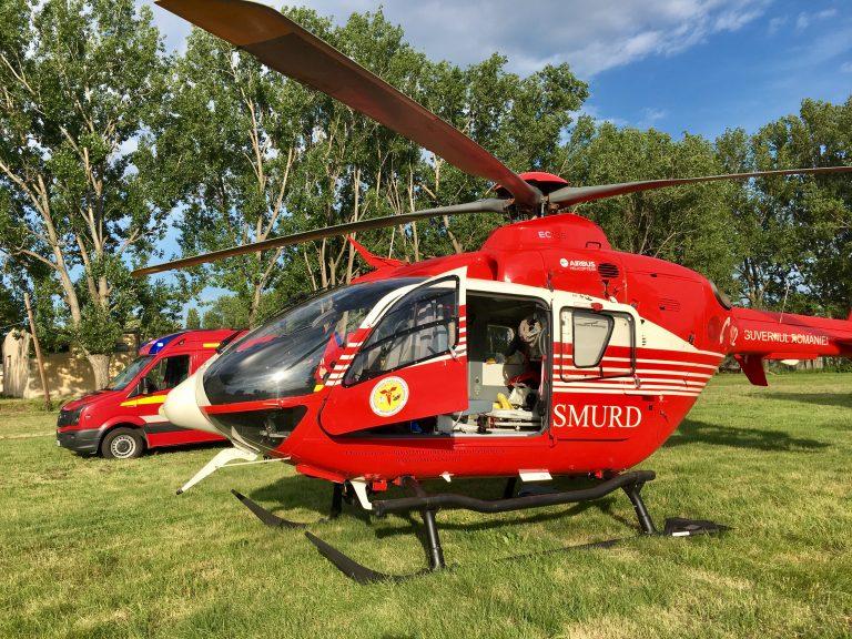 Elicopter chemat pentru un bolnav grav