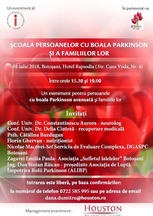 Seminar pentru bolnavii de Parkinson la Botosani
