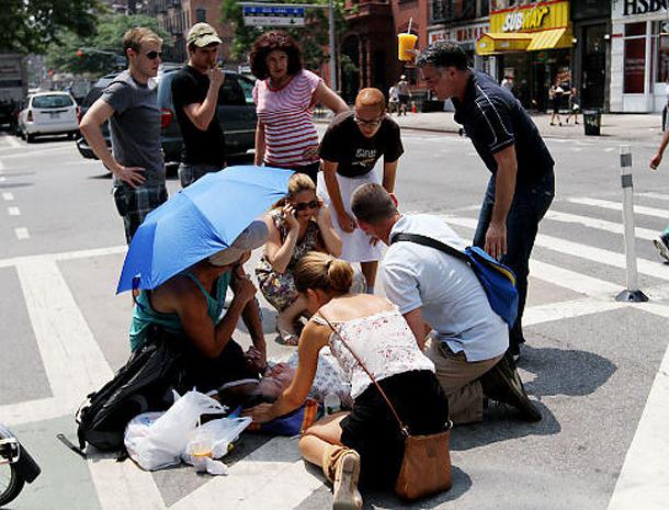 Femei leşinate din cauza căldurii