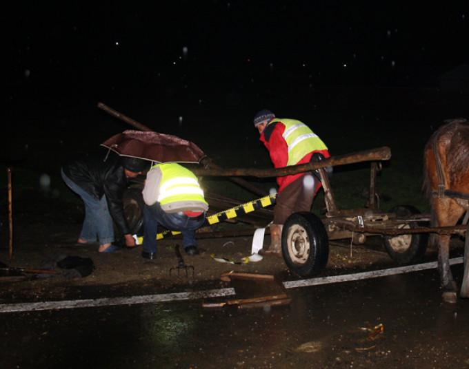 Accident provocat de un căruţaş aproape de comă alcoolică