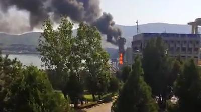 Incendiu de proporţii la hidrocentrala Porţile de Fier I