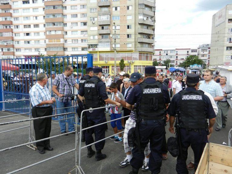 Jandarmi din Bacău şi Botoşani pe Municipal la meciul din această seară