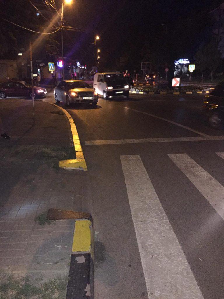 Accident cu răniți lângă Mall