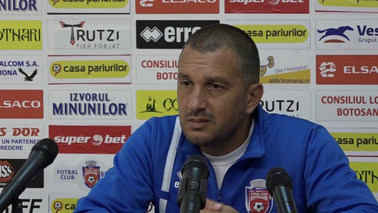 Antrenorul FC Botoșani povestește cum ar fi trebuit să joace echipa