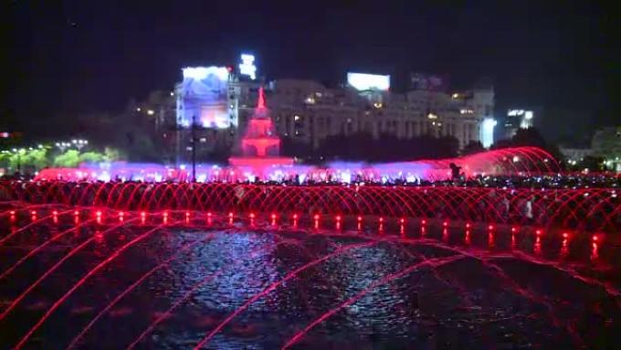 Fântânile din Piaţa Unirii din Bucureşti, redeschise cu un spectacol multimedia
