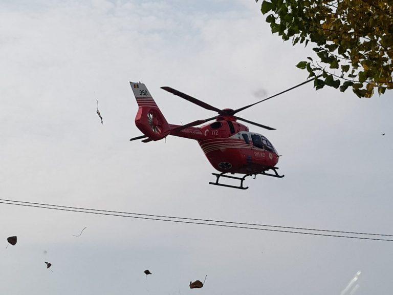 Elicopterul SMURD solicitat la Darabani pentru un caz grav