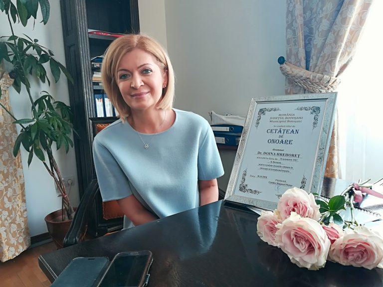 Îngerul de la Fundeni, medicul Doina Hrehoreţ, a primit titlul de Cetăţean de Onoare al Municipiului Botoşani (video)