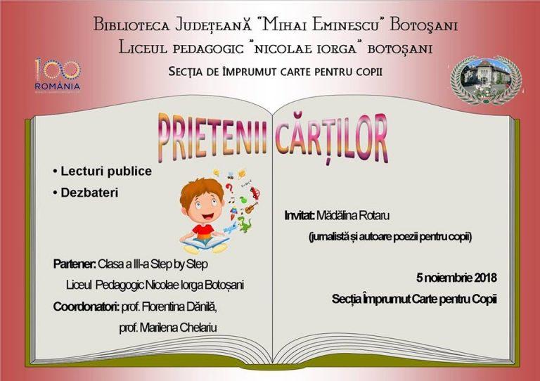Lecturi publice la Biblioteca Judeţeană