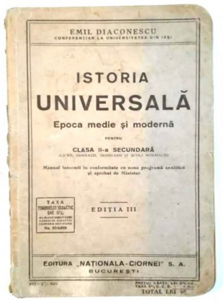 O publicaţie din zorii României Mari