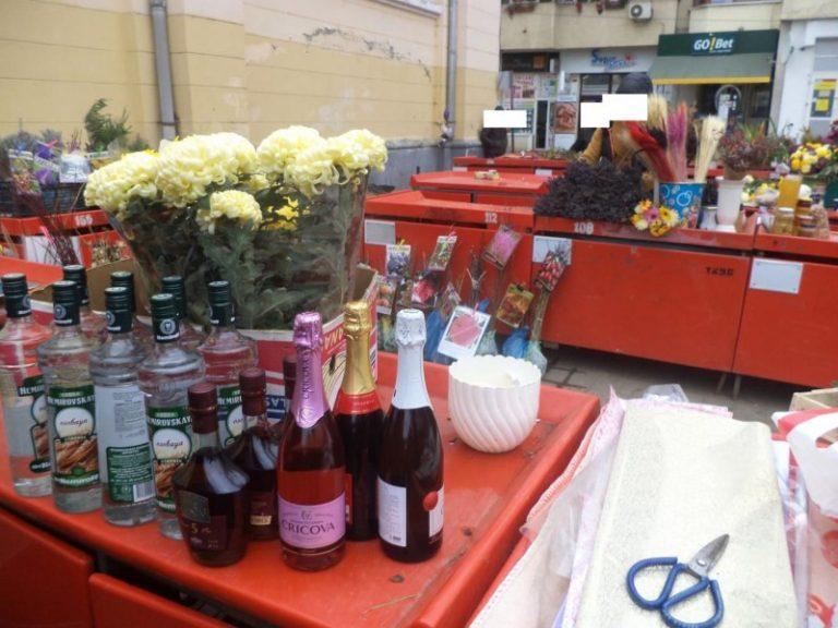 Alcool confiscat în Piaţa Centrală