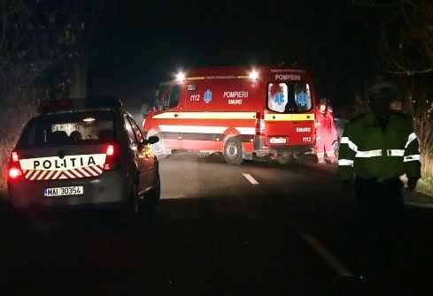 Căruțaș ajuns la spital după o depășire riscantă