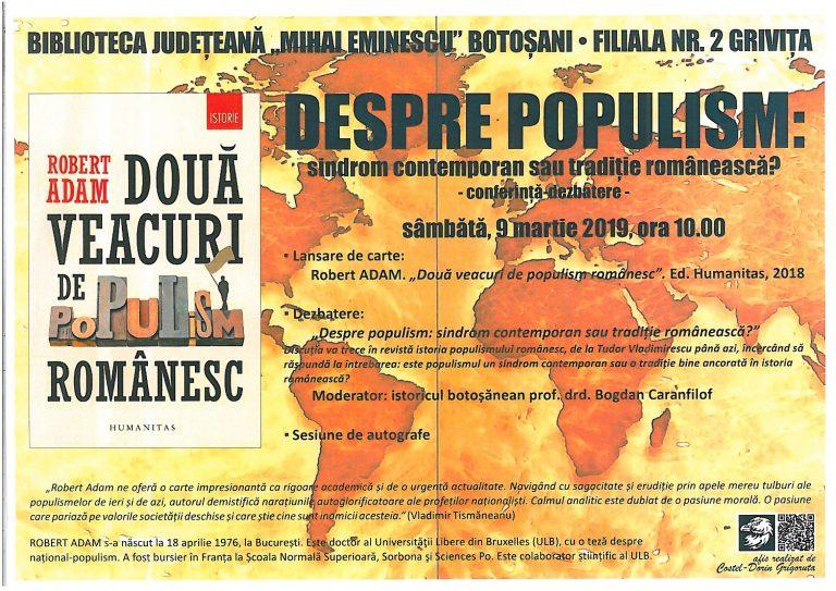 Politologul Robert Adam îşi va lansa o carte la Botoşani