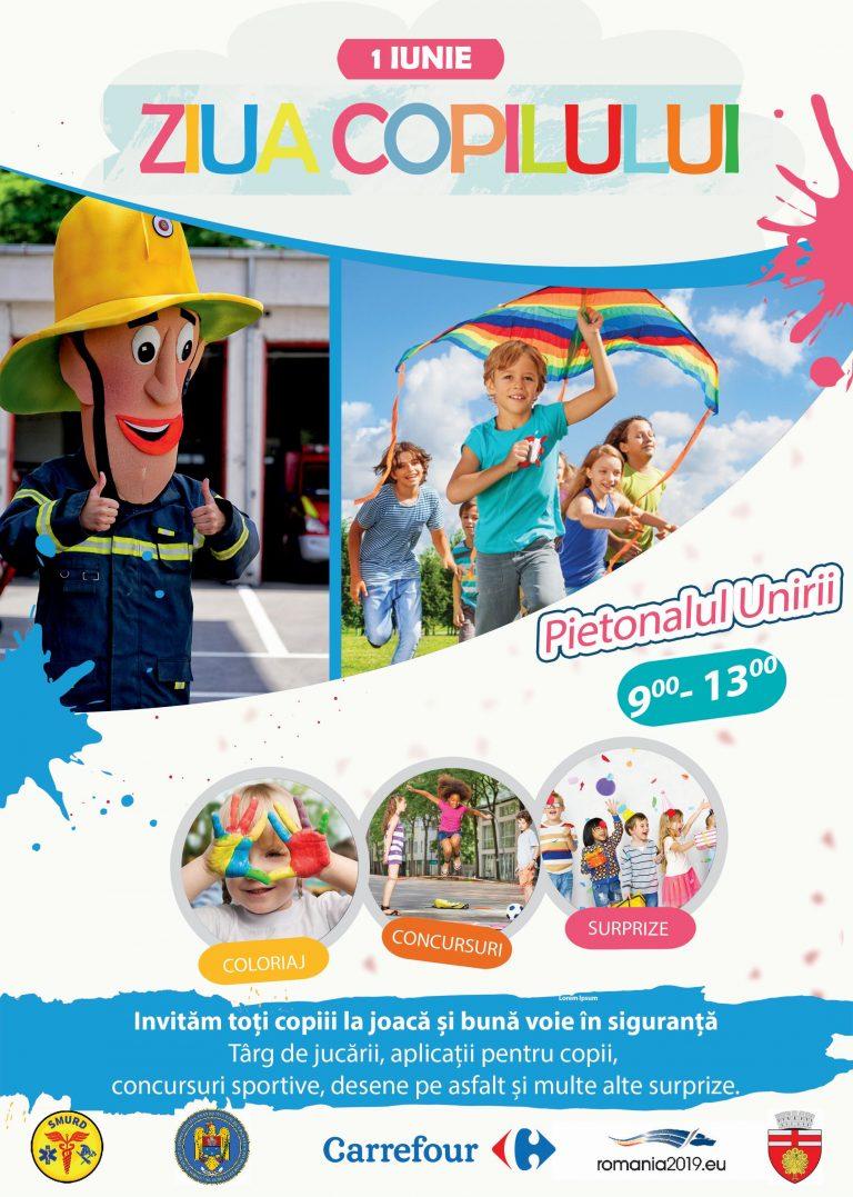 Primăria Botoşani organizează activităţi pentru copii, pe Pietonalul Unirii