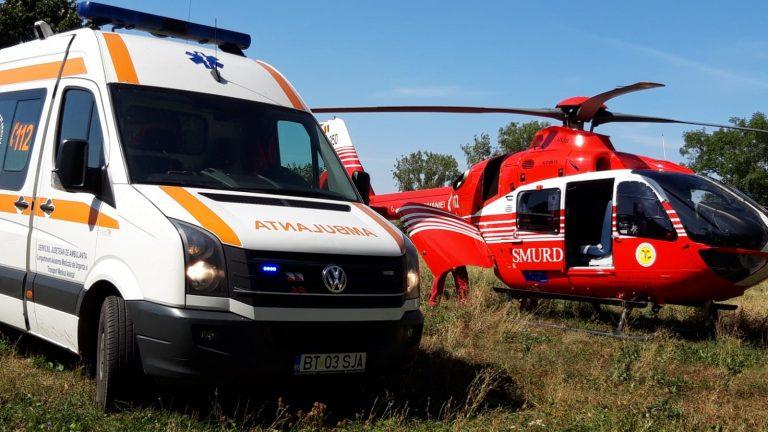 Elicopter solicitat pentru un bărbat în șoc cardiac (video)