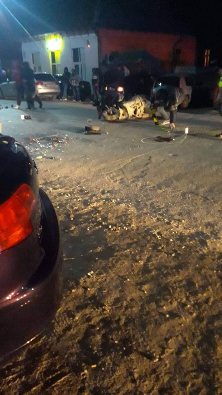 Accident provocat de un mopedist băut și fără permis
