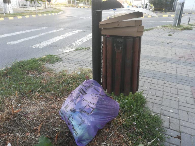 Amenzi mai mari pentru cei care pun deşeuri menajere în coşurile stradale