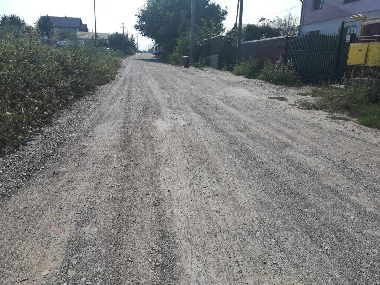 Pregătiri pentru deschiderea şantierului pe strada Drumul Tătarilor