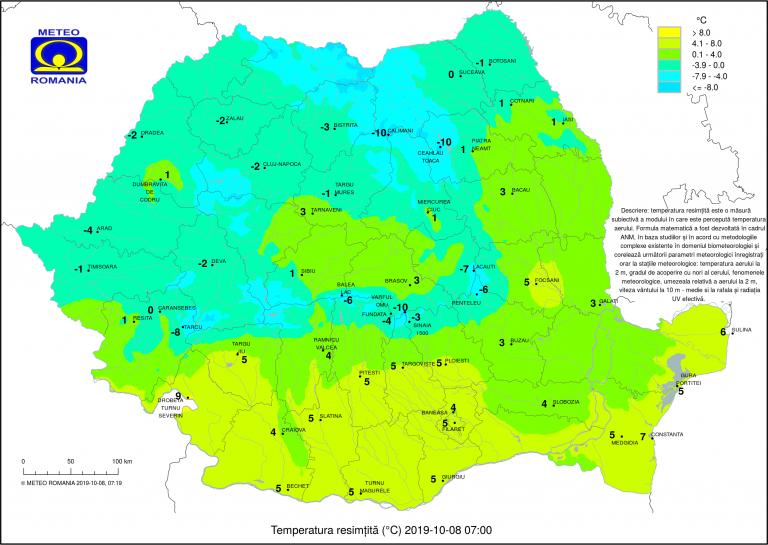 Temperaturi de -1ºC la Botoșani