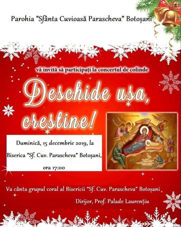"""Concert de colinde la Biserica """"Sfânta Cuvioasă Parascheva"""""""