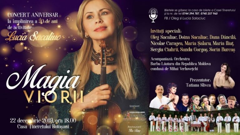 """Astăzi – Concert aniversar """"Magia Viorii"""", la Casa Tineretului"""