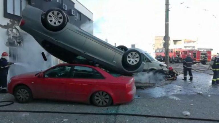 Explozie puternică în Galați. Cel puțin 4 mașini au fost avariate