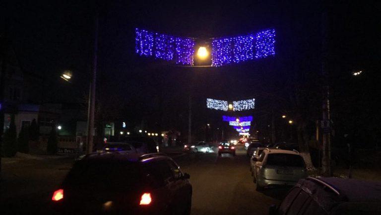 Iluminat festiv extins în municipiul Botoşani
