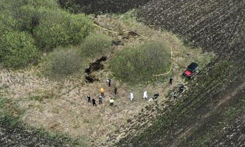 Imagini cu locul în care a fost găsită femeia carbonizată (video)