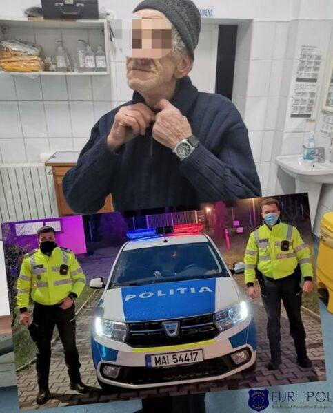 Bătrân ajutat de polițiști să își găsească fratele