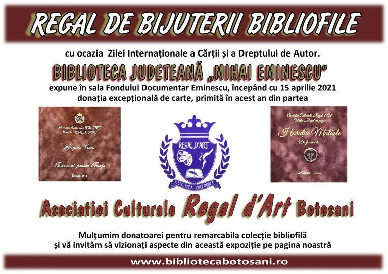 Bijuterii bibliofile expuse la Biblioteca Județeană