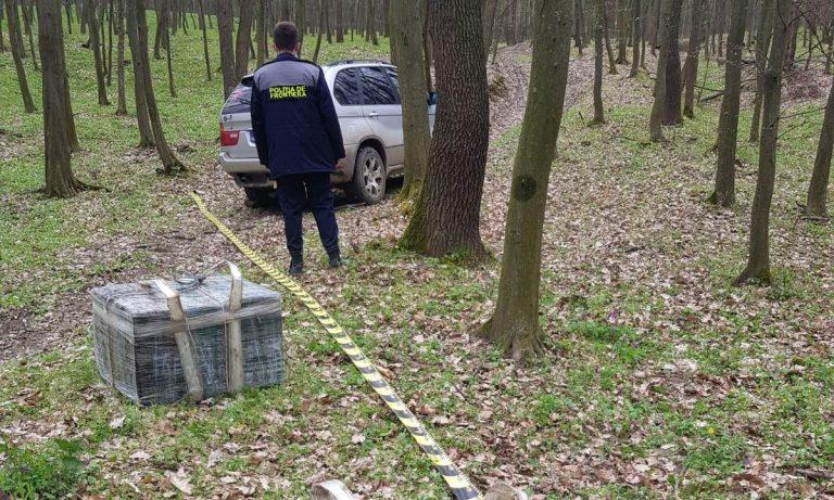 Contrabandă dejucată cu focuri de armă. BMW X5 și mii de pachete de țigări confiscate