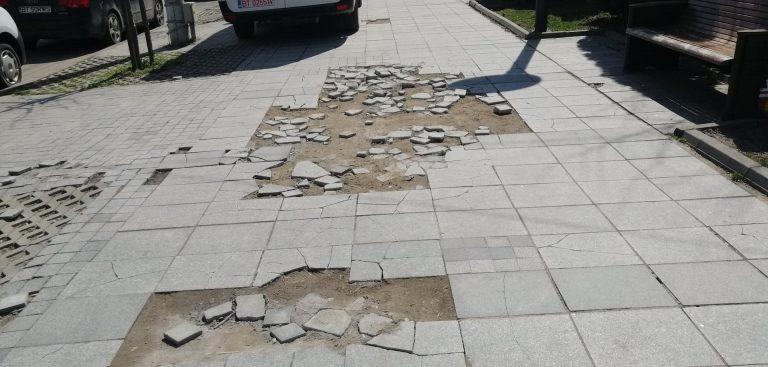 Planuri pentru reabilitarea trotuarelor de pe Bulevardul Eminescu