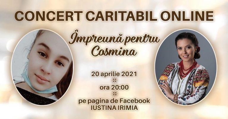 Concert caritabil online organizat de Iustina Irimia Cenuşă