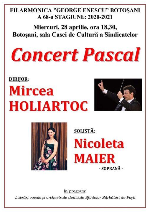 Concert Pascal organizat de Filarmonica Botoşani