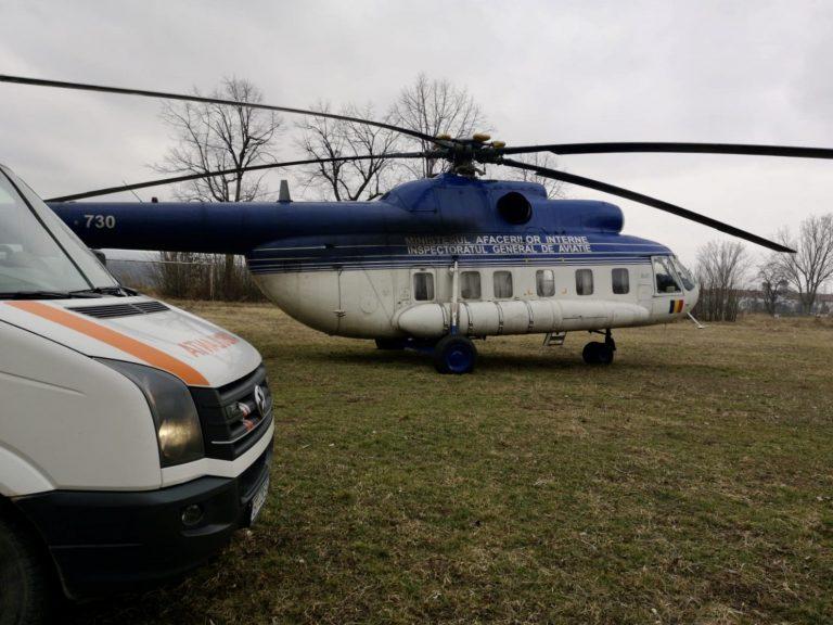 Ministrul Afacerilor Interne, Lucian Bode, a ajuns în județ cu elicopterul