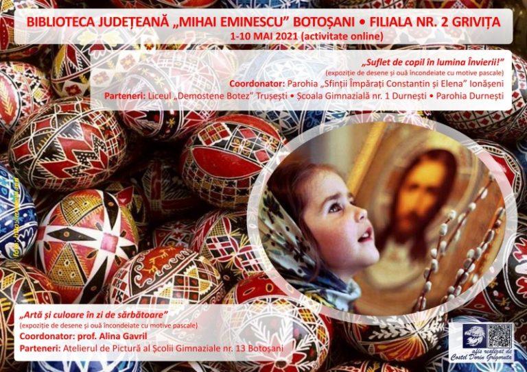 Expoziţie online organizată cu ocazia Sărbătorilor Pascale