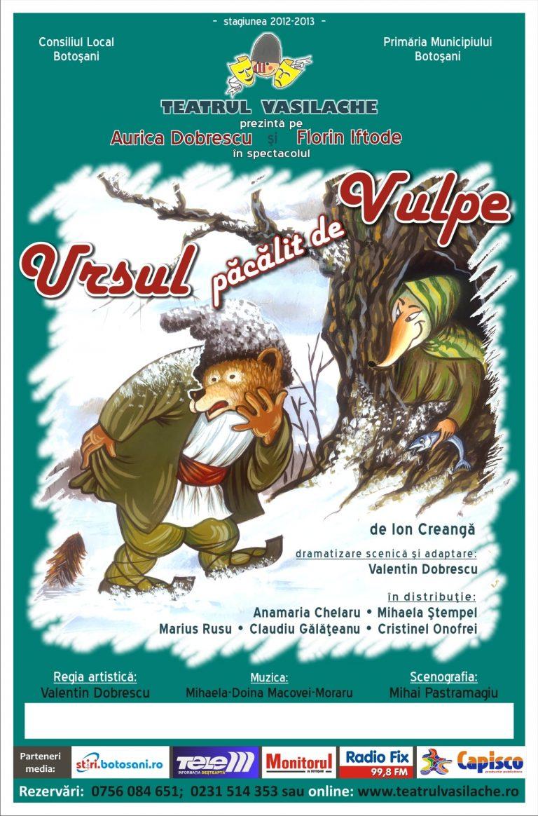 Spectacol online la Teatrul Vasilache