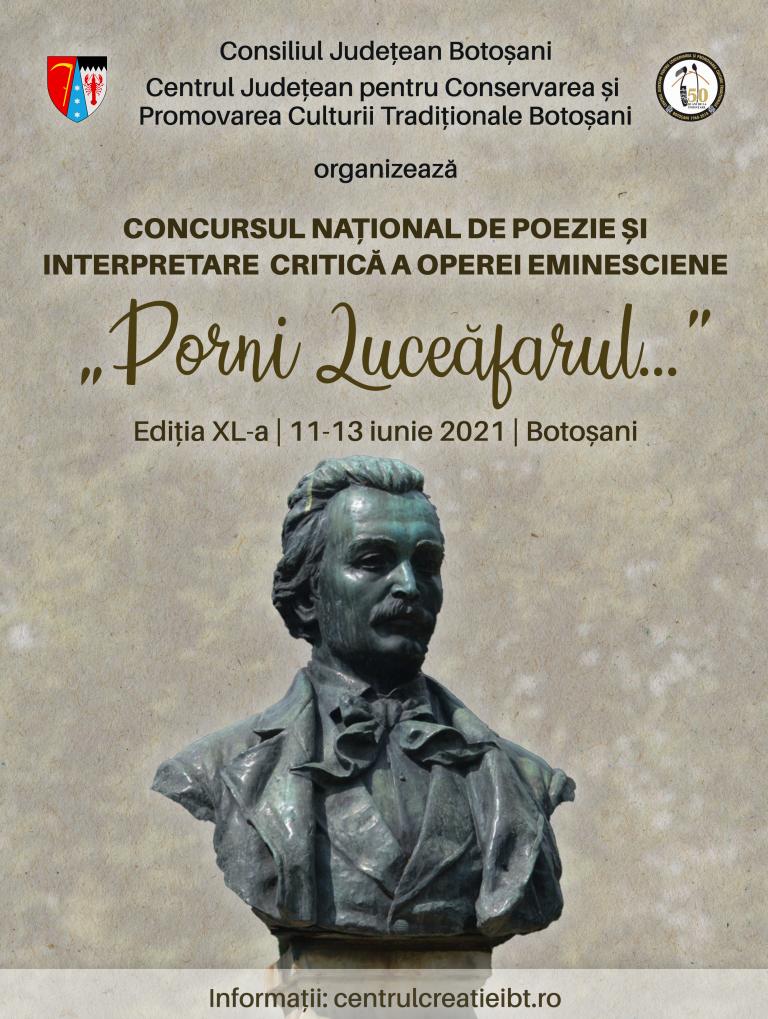"""Înscrierile pentru Concursul de Poezie """"Porni Luceafărul…"""" se prelungesc"""