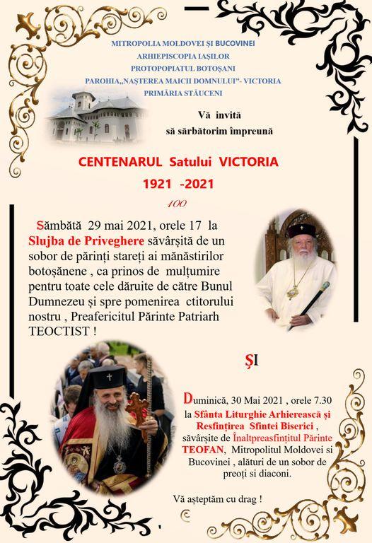 Mare sărbătoare în satul Victoria, localitate centenară