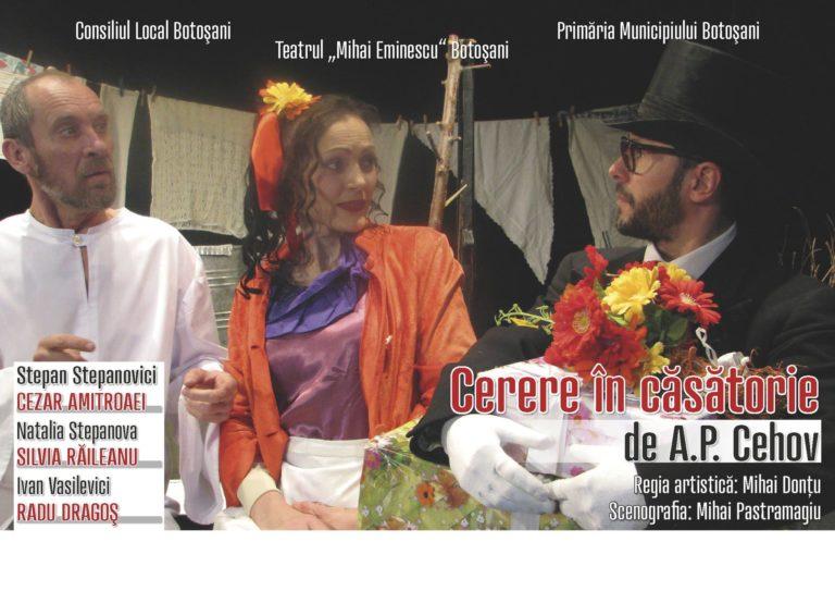 """Weekend cu spectacole la Teatrul """"Mihai Eminescu"""""""