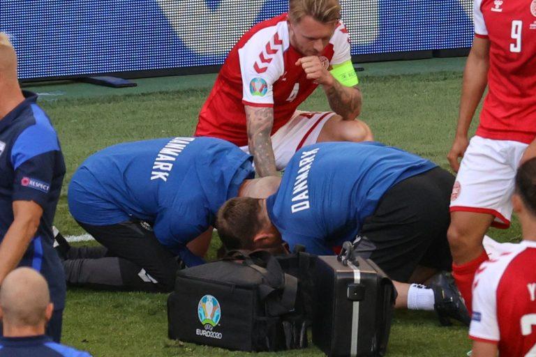 Moment șocant la meciul Danemarca- Suedia. Christian Eriksen a căzut secerat. UEFA a decis că meciul se va relua