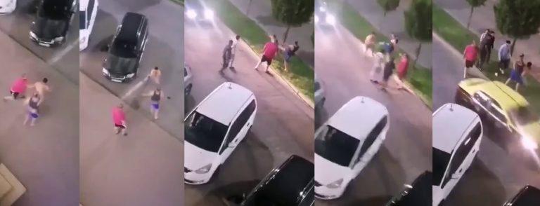 Tânăr bătut cu bestialitate în centrul Dorohoiului(video)