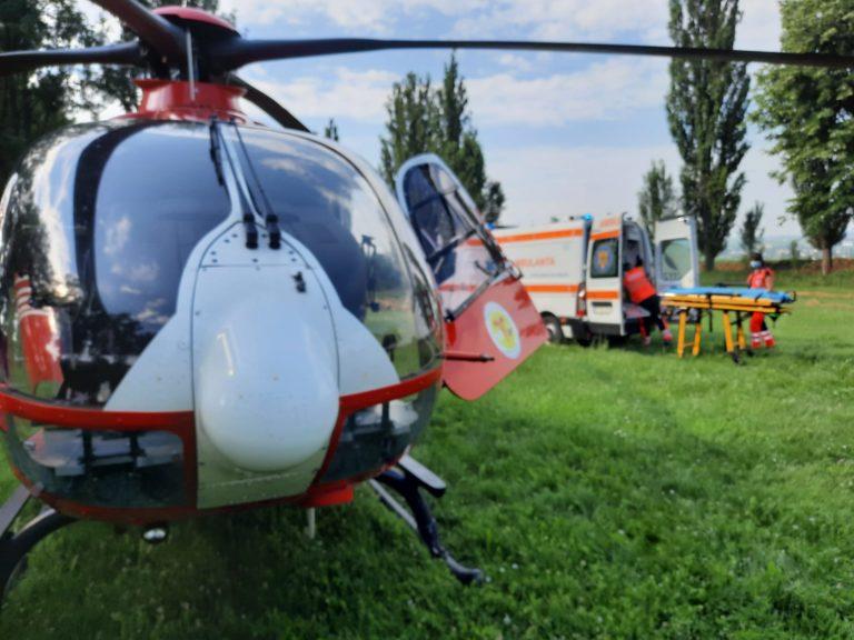 Elicopter solicitat pentru un cardiac în stare gravă (video)