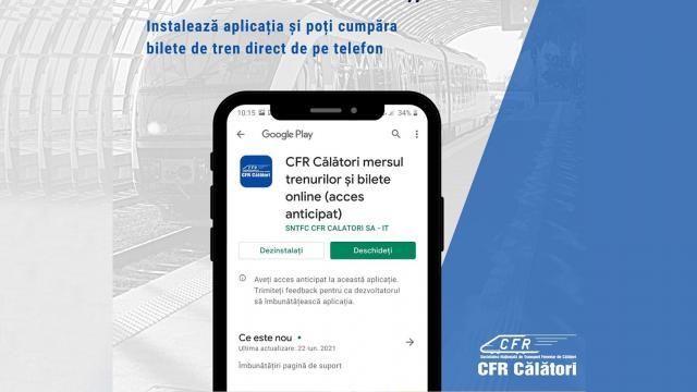 Aplicaţie lansată de CFR pentru cumpărarea de bilete
