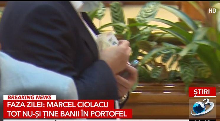 Banii lui Ciolacu au zburat din buzunar în Parlament