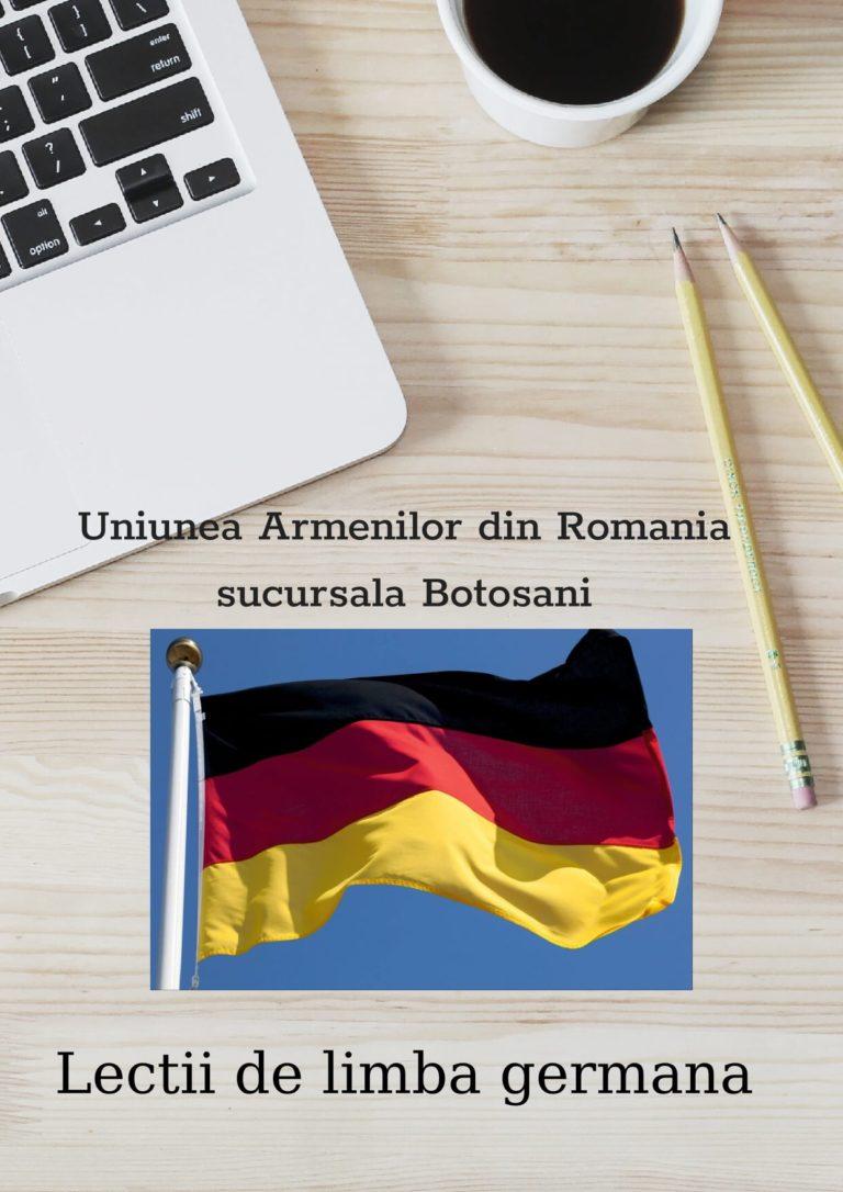 Cursuri gratuite de limbă germană pentru elevi organizate de Uniunea Armenilor