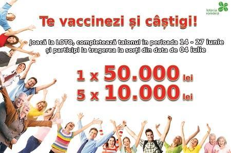 Loteria Română se implică în campania de vaccinare